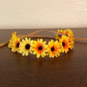 Sunflower flower crown 🌻
